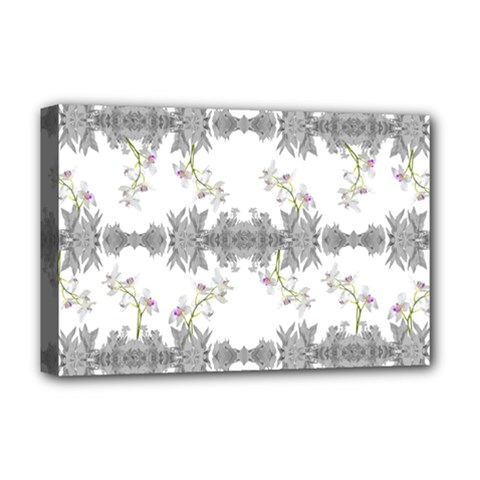 Floral Collage Pattern Deluxe Canvas 18  X 12   by dflcprints