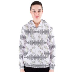Floral Collage Pattern Women s Zipper Hoodie by dflcprintsclothing