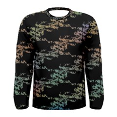 Birds With Nest Rainbow Men s Long Sleeve Tee