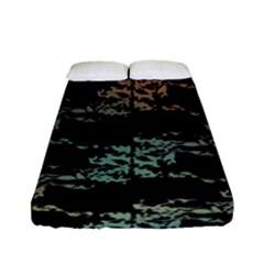 Birds With Nest Rainbow Fitted Sheet (full/ Double Size) by ssmccurdydesigns