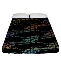 Birds With Nest Rainbow Fitted Sheet (california King Size) by ssmccurdydesigns