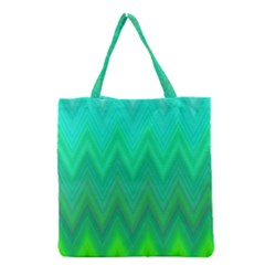 Zig Zag Chevron Classic Pattern Grocery Tote Bag by Nexatart