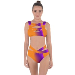 Lines Network The Ribbon Red Bandaged Up Bikini Set
