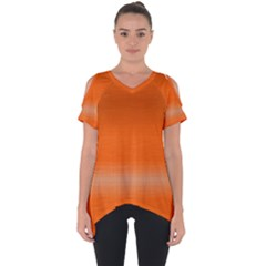 Ombre Cut Out Side Drop Tee