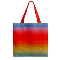 Ombre Zipper Grocery Tote Bag by ValentinaDesign