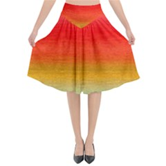 Ombre Flared Midi Skirt by ValentinaDesign