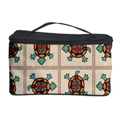 Native American Pattern Cosmetic Storage Case by linceazul