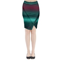 Ombre Midi Wrap Pencil Skirt by ValentinaDesign