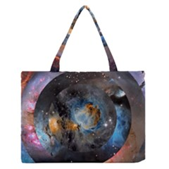 Abstract Abstract Space Resize Zipper Medium Tote Bag by amphoto