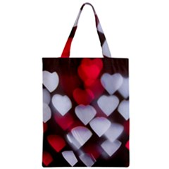 Highlights Hearts Texture  Zipper Classic Tote Bag by amphoto