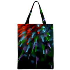 Explosion Rays Fractal Colorful Fibers Zipper Classic Tote Bag by amphoto