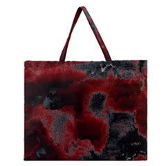 Ombre Zipper Large Tote Bag by ValentinaDesign