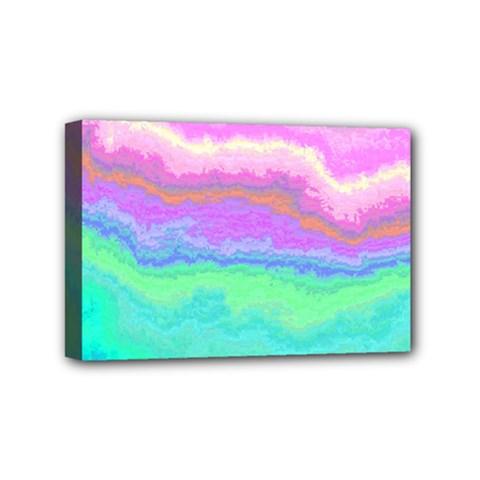 Ombre Mini Canvas 6  X 4  by ValentinaDesign