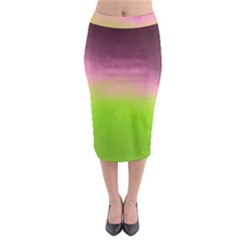 Ombre Midi Pencil Skirt by ValentinaDesign