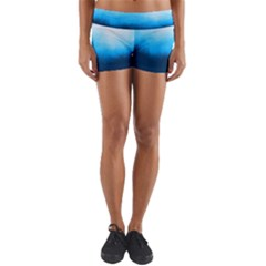 Ombre Yoga Shorts by ValentinaDesign