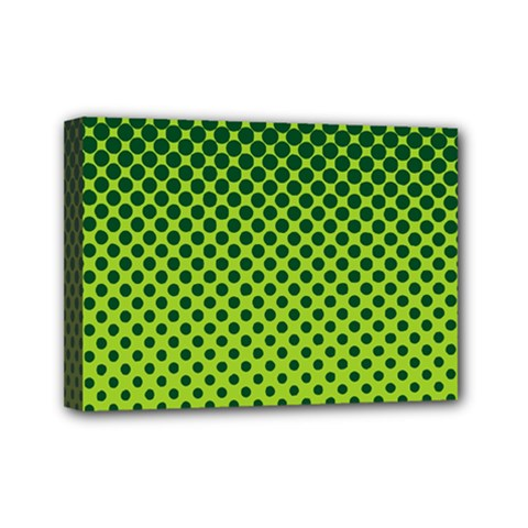 Halftone Circle Background Dot Mini Canvas 7  X 5  by Nexatart
