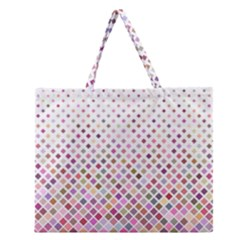 Pattern Square Background Diagonal Zipper Large Tote Bag by Nexatart