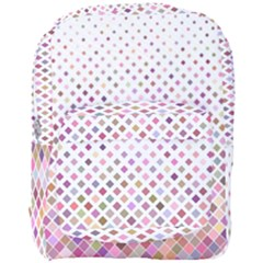 Pattern Square Background Diagonal Full Print Backpack by Nexatart