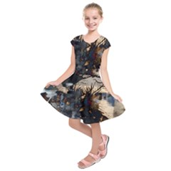 Texture Background Style  Kids  Short Sleeve Dress by amphoto