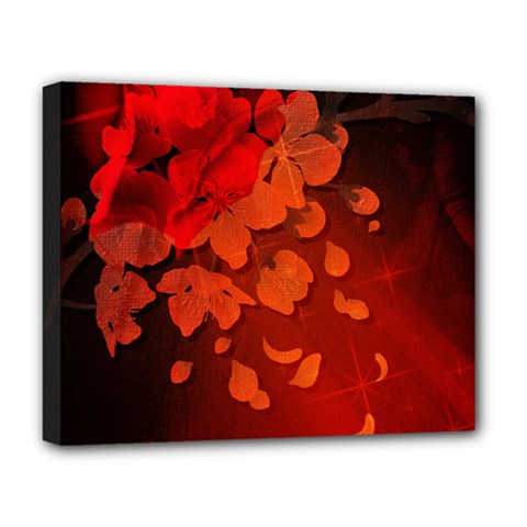 Cherry Blossom, Red Colors Deluxe Canvas 20  X 16   by FantasyWorld7