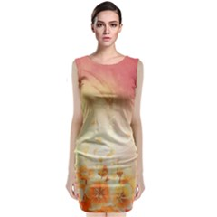 Flower Power, Cherry Blossom Classic Sleeveless Midi Dress by FantasyWorld7