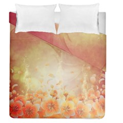 Flower Power, Cherry Blossom Duvet Cover Double Side (queen Size) by FantasyWorld7