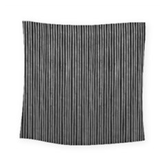 Stylish Silver Strips Square Tapestry (small) by gatterwe