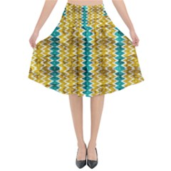 Peeled Paint Texture                            Flared Midi Skirt by LalyLauraFLM
