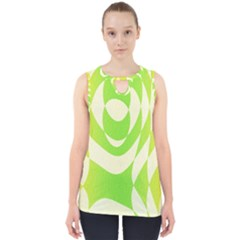 Green Shapes Canvas                              Cut Out Tank Top