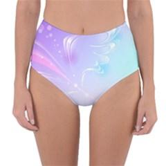 Wings Drawing Soft Background  Reversible High Waist Bikini Bottoms by amphoto