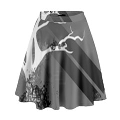 Tree Ornaments Black White Gray High Waist Skirt by amphoto