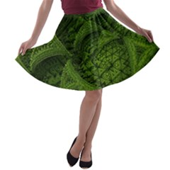 Plant Lines Points Shapes  A Line Skater Skirt by amphoto
