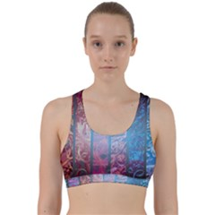 Lines Stripes Pattern Cloudy  Back Weave Sports Bra