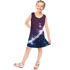 Lines Rays Glare Star Light Shadow  Kids  Tunic Dress by amphoto
