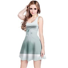 Gray Points Curves Patches Vector Minimalism  Reversible Sleeveless Dress by amphoto