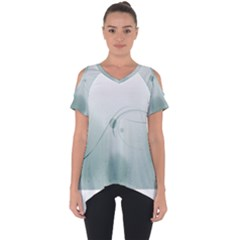 Gray Points Curves Patches Vector Minimalism  Cut Out Side Drop Tee