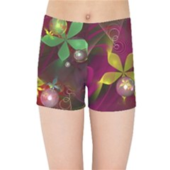 Drawing Abstract Ball Kids Sports Shorts by amphoto