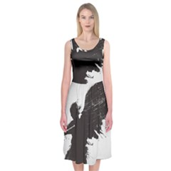 Angel Wings Flower Vector  Midi Sleeveless Dress by amphoto