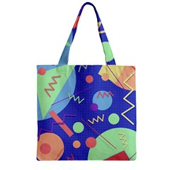 Memphis #42 Zipper Grocery Tote Bag by RockettGraphics