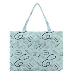 Pattern Medicine Seamless Medical Medium Tote Bag by Nexatart