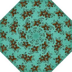 Chocolate Background Floral Pattern Straight Umbrellas by Nexatart