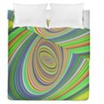 Ellipse Background Elliptical Duvet Cover Double Side (Queen Size)