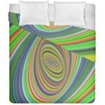 Ellipse Background Elliptical Duvet Cover Double Side (California King Size)