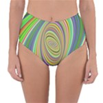 Ellipse Background Elliptical Reversible High-Waist Bikini Bottoms