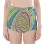 Ellipse Background Elliptical High-Waisted Bikini Bottoms