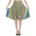 Ellipse Background Elliptical Flared Midi Skirt