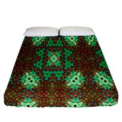 Art Design Template Decoration Fitted Sheet (queen Size)