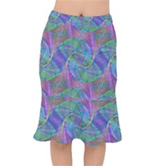 Spiral Pattern Swirl Pattern Mermaid Skirt by Nexatart