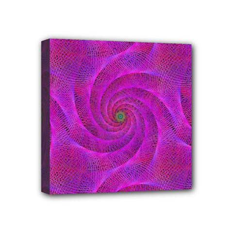 Pink Abstract Background Curl Mini Canvas 4  X 4  by Nexatart