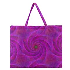 Pink Abstract Background Curl Zipper Large Tote Bag by Nexatart